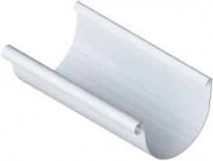 Жёлоб водосточный ПВХ Элит (цвет белый) 4 м, диаметр 125 мм
