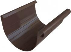 Жёлоб водосточный ПВХ 4м, диаметр 125 мм, Элит (цвет коричневый)