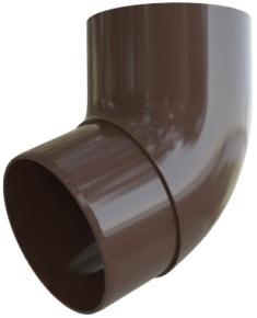 Колено трубы 67° ПВХ Элит (коричневый)